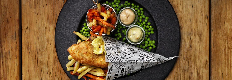 Oppskrift på Fish & Crisp med grønnsaksfries og aioli