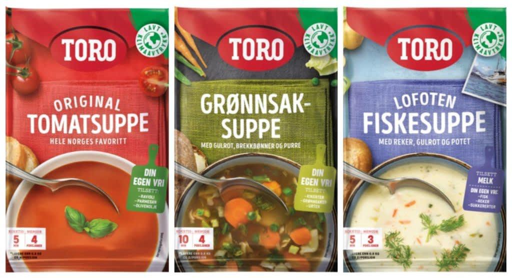 Disse suppeposene fra TORO har fått det nye klodemerket.