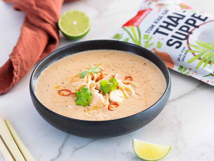 Eldorado Tom kha gai thaisuppe (Finnes i utvalgte KIWI-butikker)