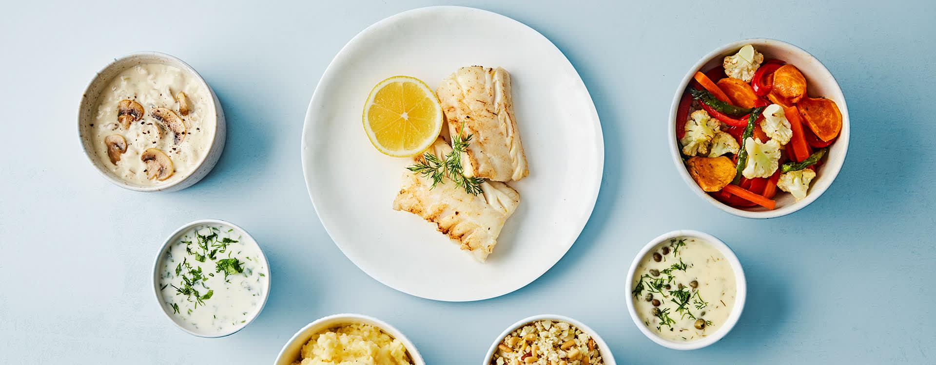 Det er mange gode alternative sauser til torsk.