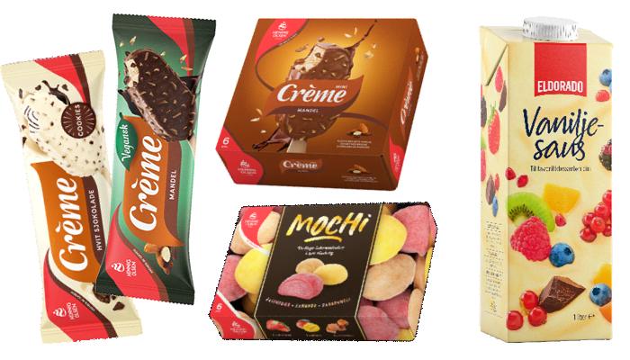Vegansk Crème mandel og mochi iskuler er blant nyhetene hos KIWI.