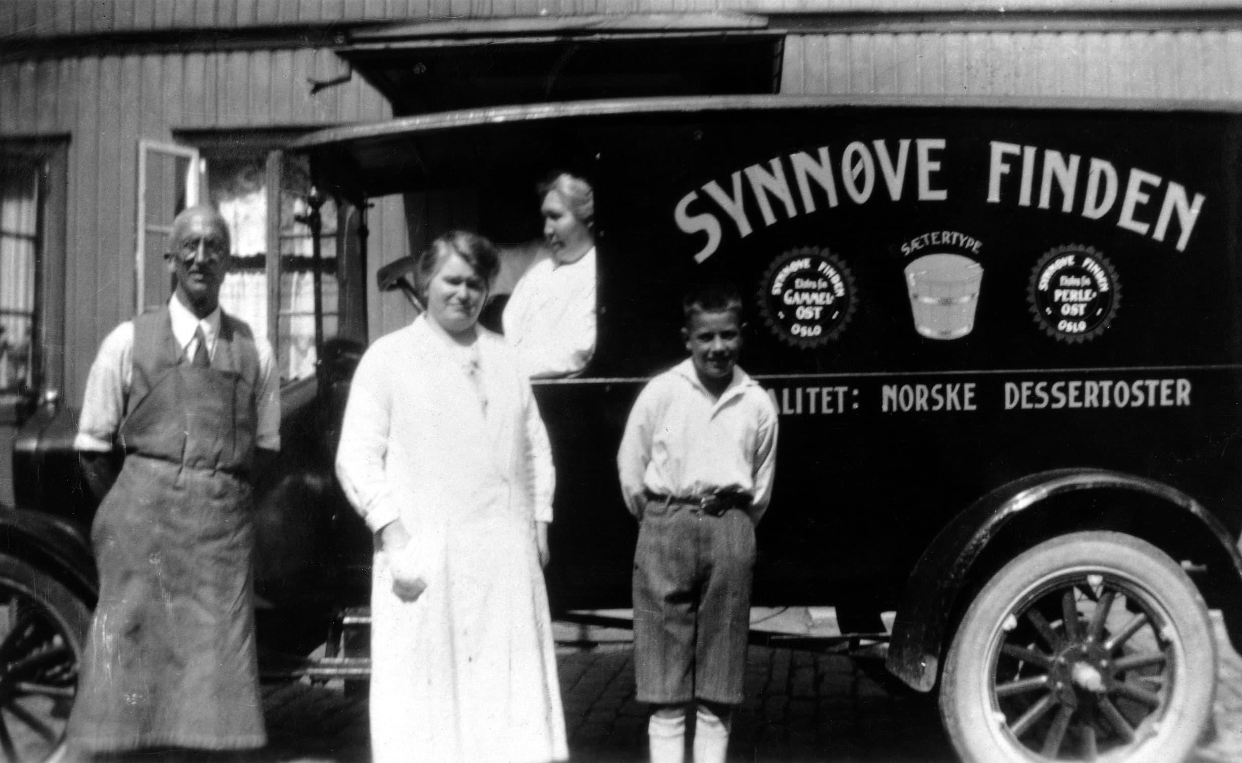 I slutten av 1930-årene leverte seks varebiler produkter fra Synnøve Finden til hele Østlandet.