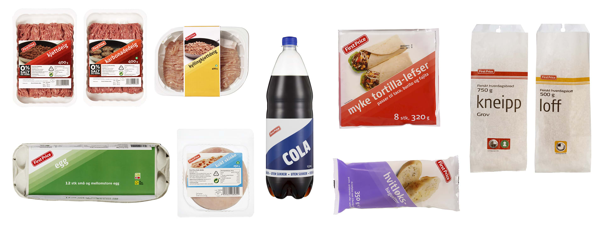 Dette er de ti mest solgte First Price-matvarene hos KIWI.