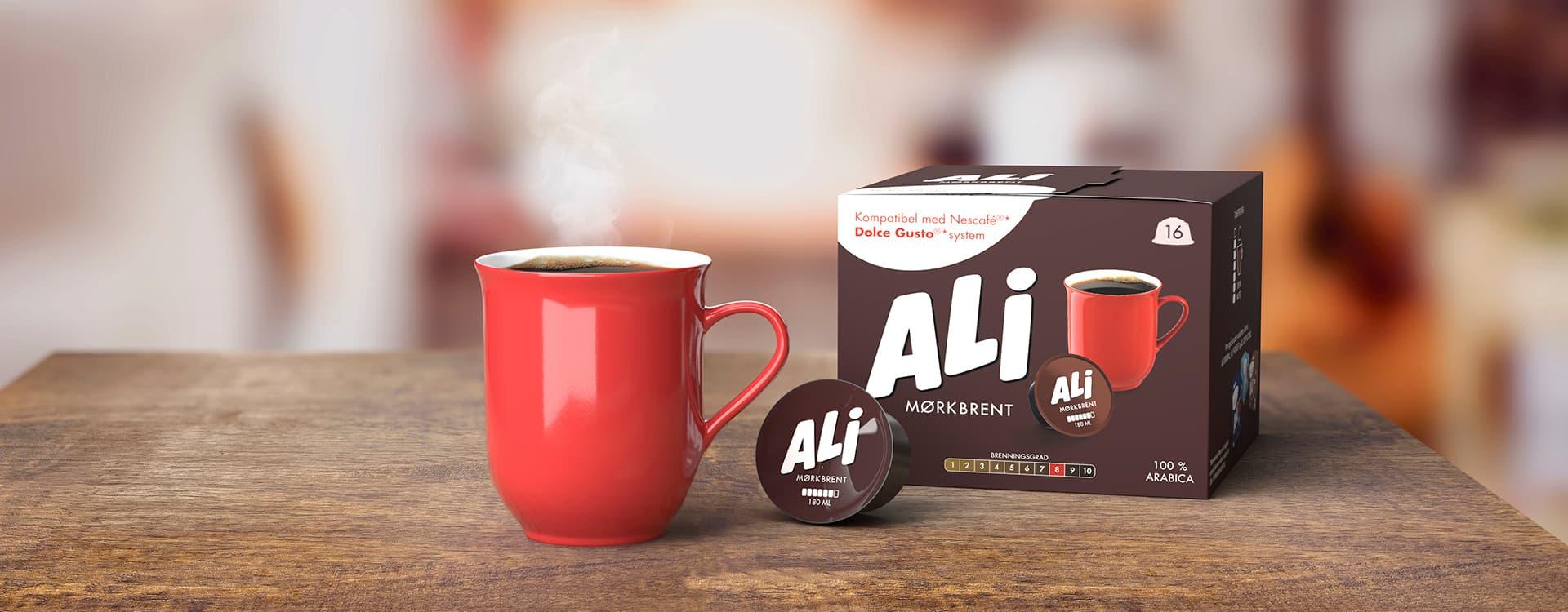 ALI Mørkbrent kaffekapsler.