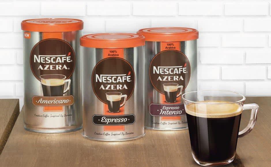 Nescafé Azera Espresso erstatter bestselgeren Nescafé Espresso i alle KIWIs butikker. I tillegg vil du finne Azera Americano i nesten alle KIWI-butikker. Espresso Intenso føres ikke i KIWI.