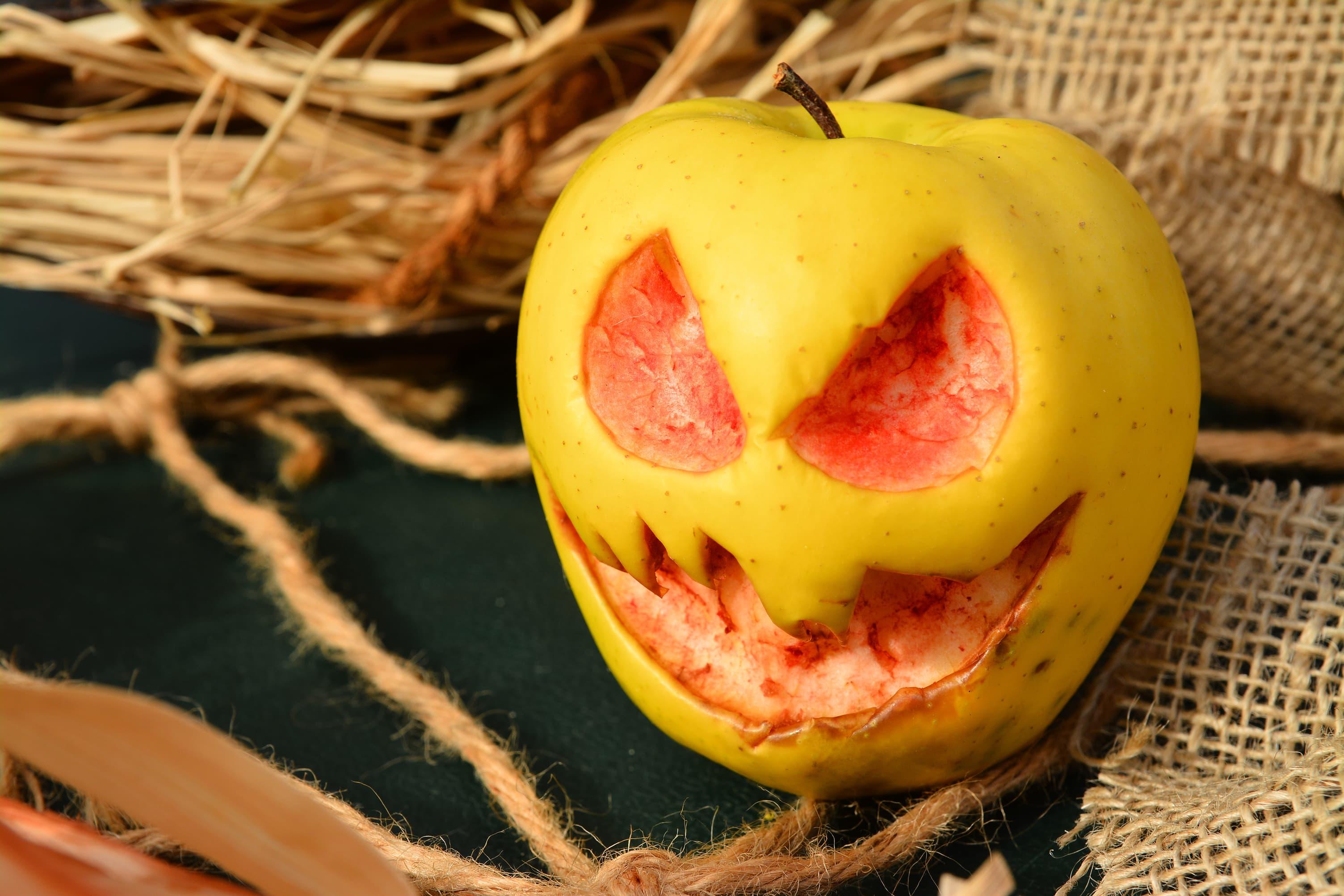 Tenk dere dette eple liggende oppi fruktskålen?