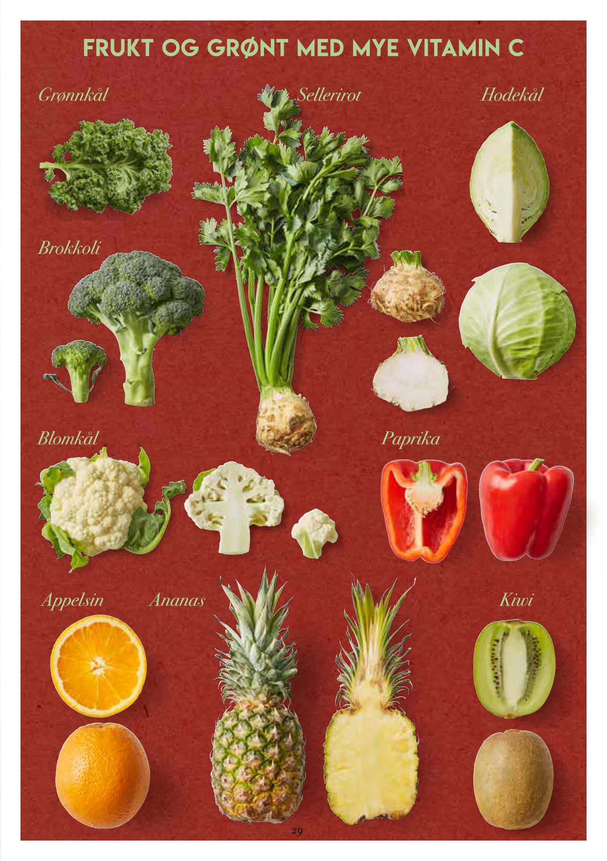Her er matvarer som inneholder mye C-vitamin