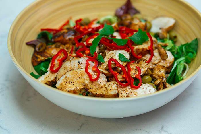 Saftig kylling med smak av Middelhavet