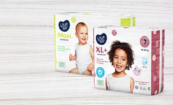50 prosent av LilleGo'-bleiene består nå av biobasert plast.