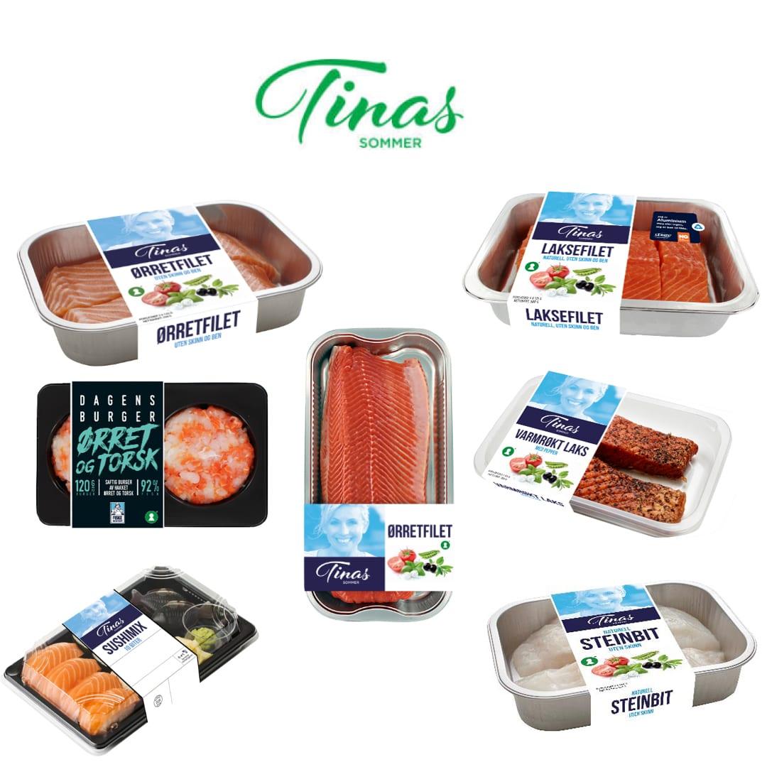 Tinas sommer er i gang igjen, og du finner masse gode produkter i både kjøtt- og fiskedisken.