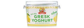 Synnøve gresk yoghurt finnes i alle butikker.