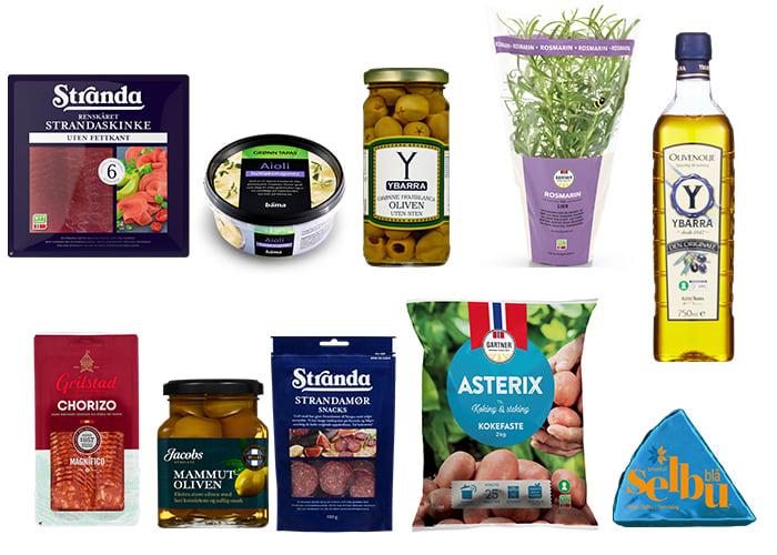 Du finner et stort utvalg produkter til tapas i KIWIs butikker, enten du går for den klassiske spanske varianten eller en mer julete, norsk versjon.