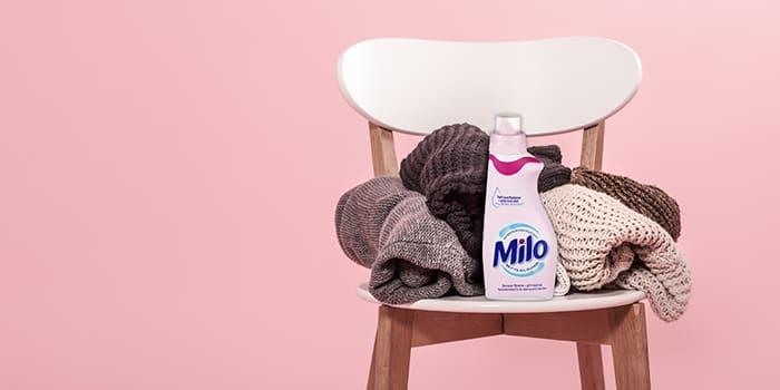 Milo tøyvask er spesielt tilpasset alt tøy som inneholder ull.