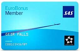 SAS EuroBonus lojalitetskort