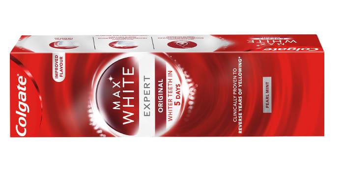 COLGATE TANNKREM MAXWHITE EXPERT WHITE.
