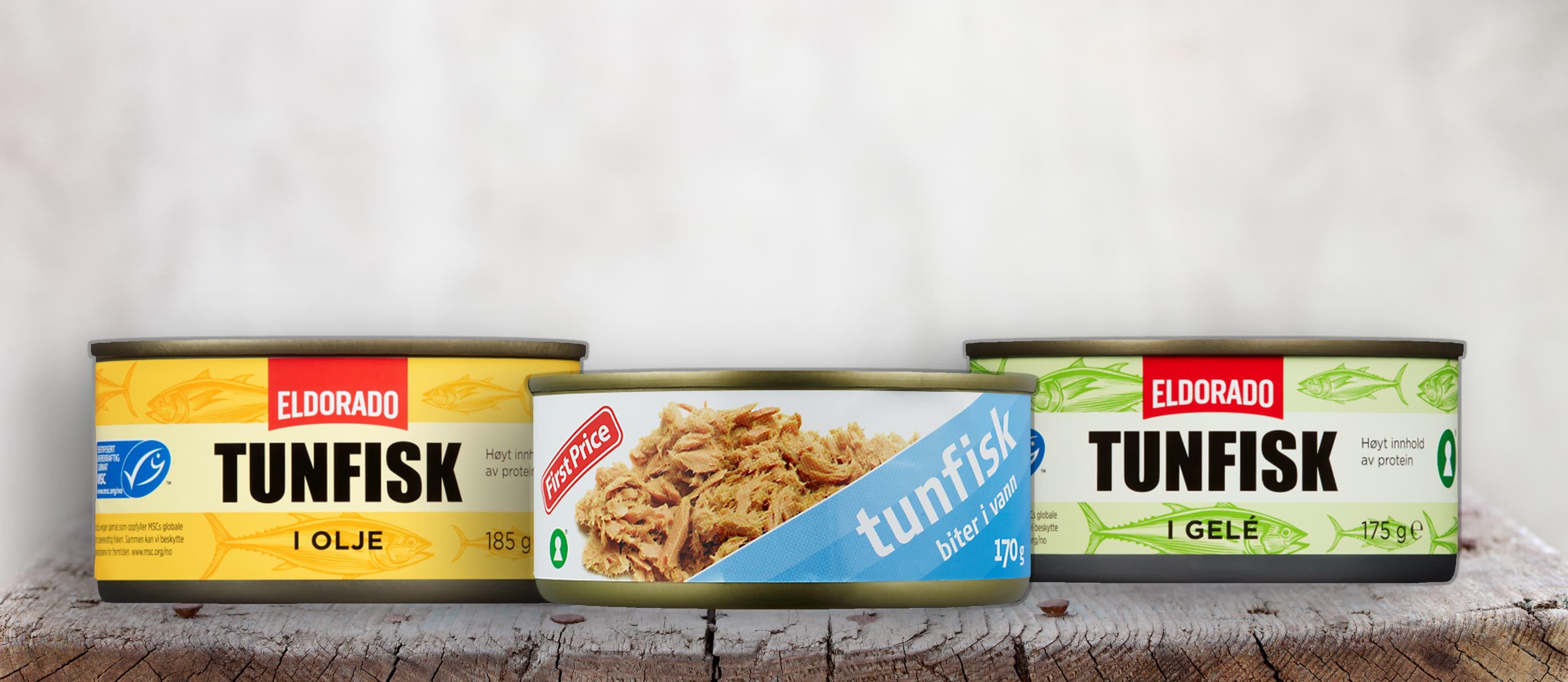 Både First Price og Eldorado tunfisk i boks er nå MSC-merket.
