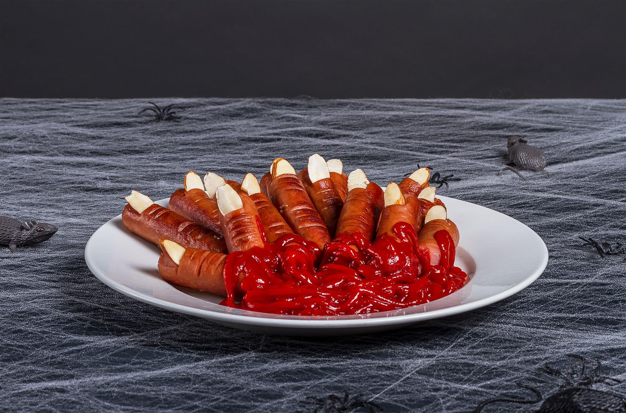 Kanskje ikke så appetittvekkende, men likevel god og riktig mat til Halloween.