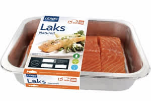 Én pakke med Lerøys lakseporsjoner hver uke, gir en årlig sparing på 694,20 kroner per år. (Med utgangspunkt i prisene 4/3-2019.)