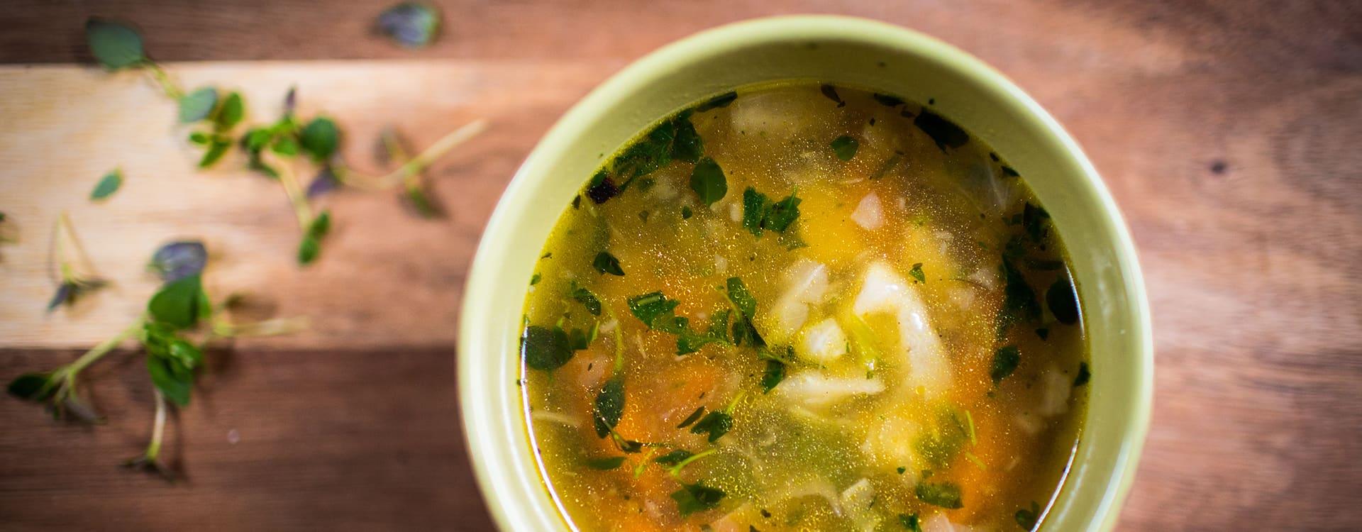 TORO grønnsaksuppe med ovnsbakte grønnsaker