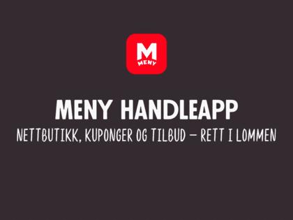NYHET! Vi lanserer nye MENY handleapp