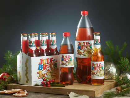 Norsk julebrus i butikk 2020