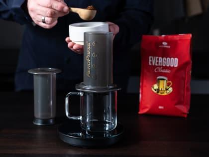Slik lager du kaffe med aeropress