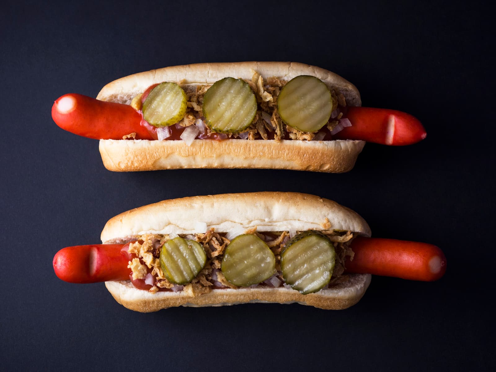 Klassisk dansk hotdog