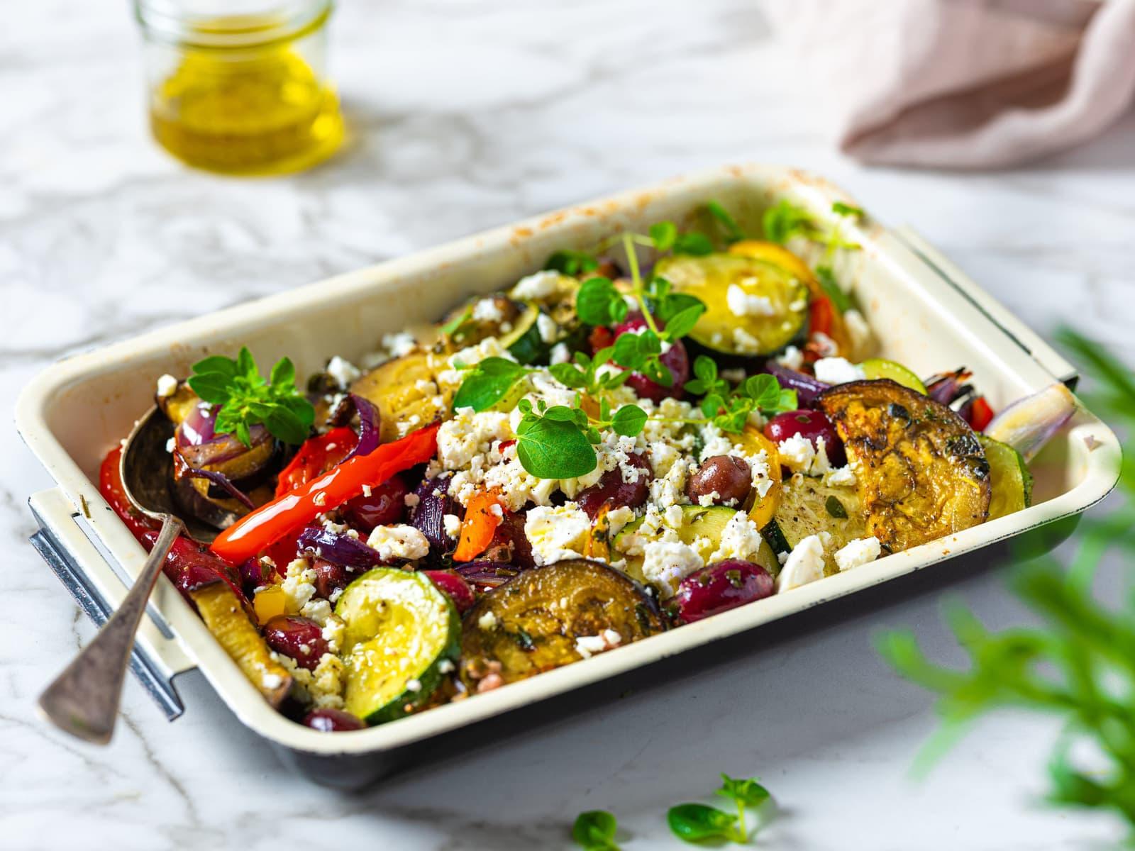 Ovnsbakte middelhavsgrønnsaker