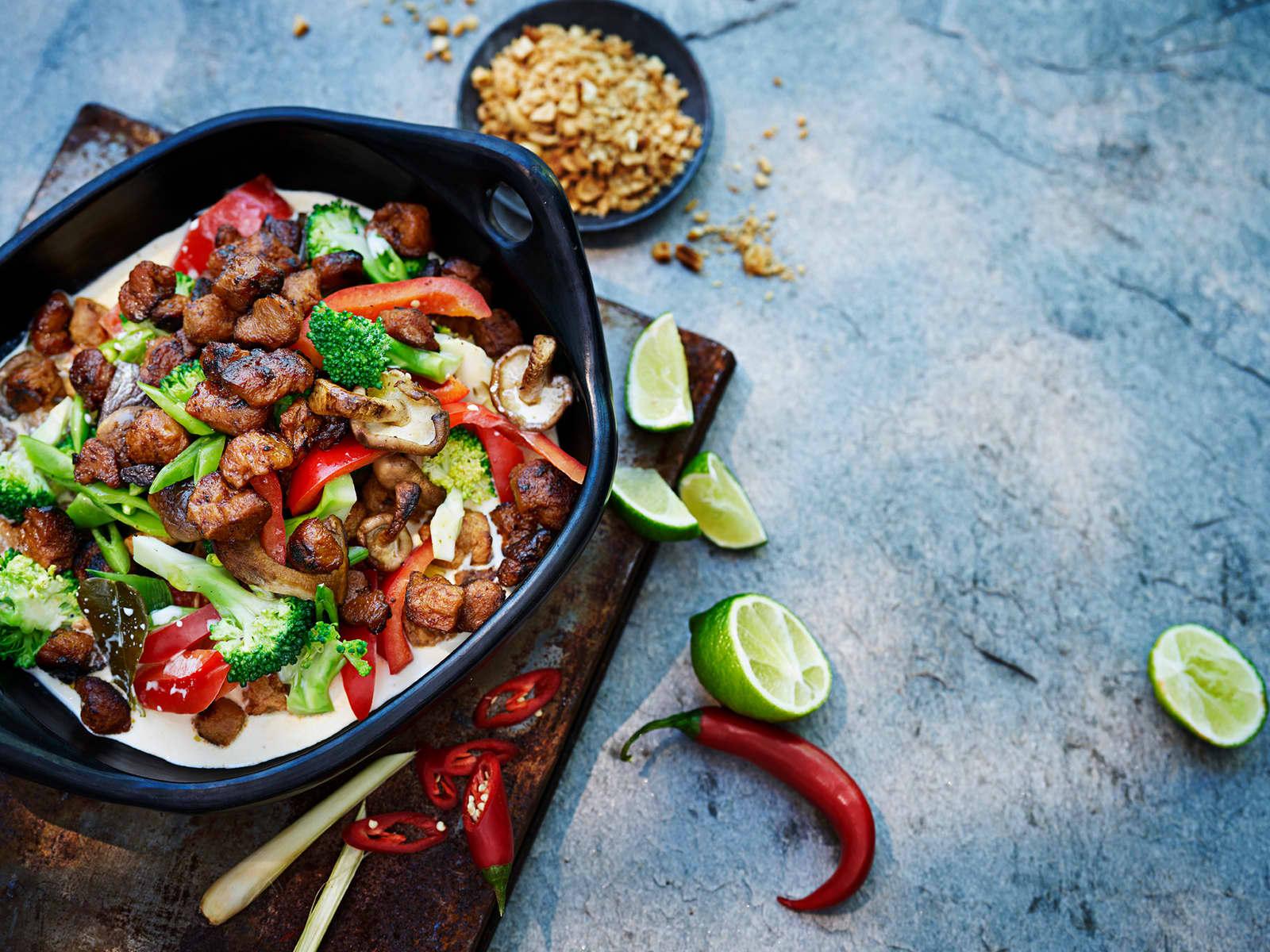 Vegetarisk thaigryte