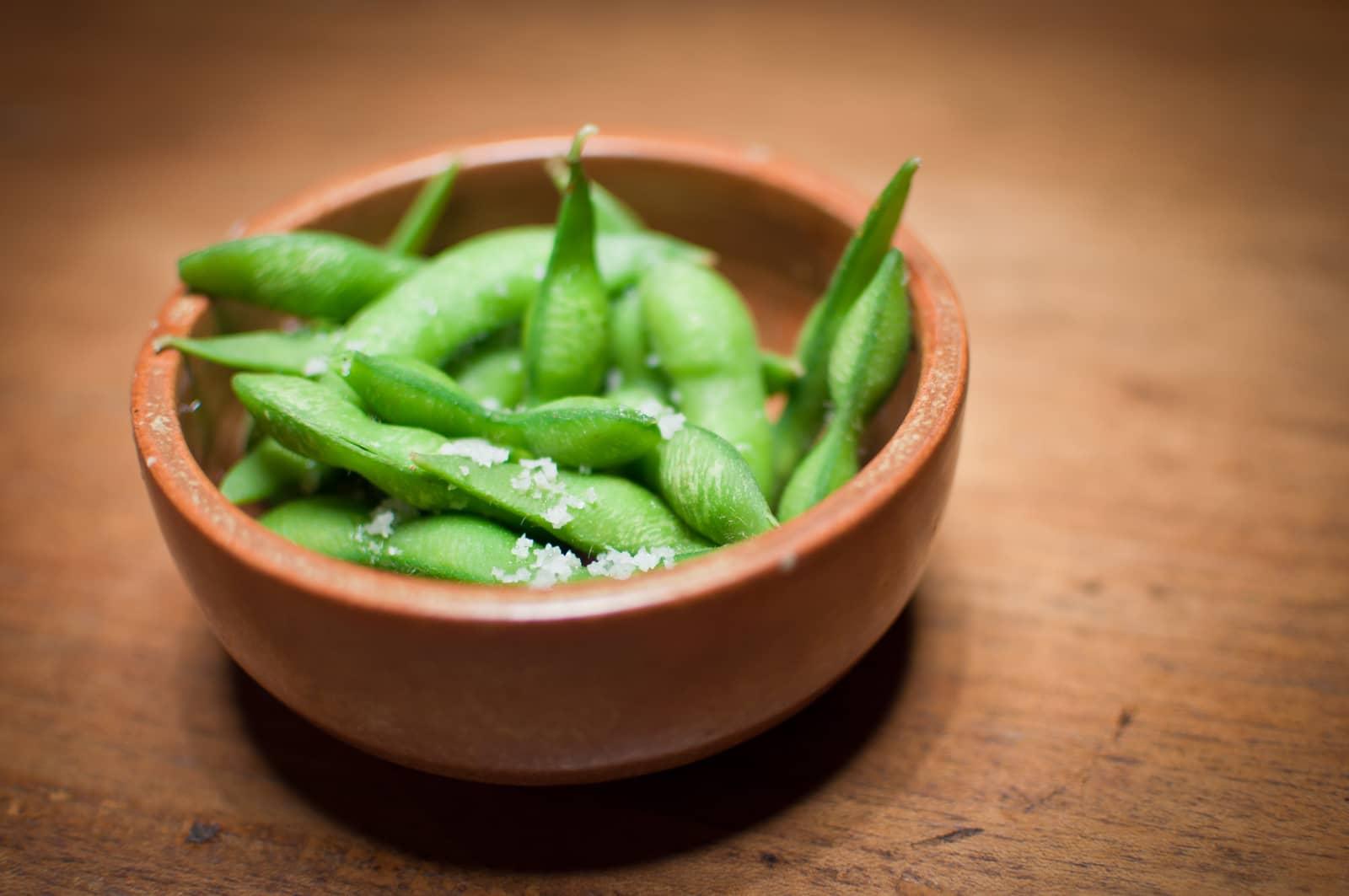 Edamamebønner med salt