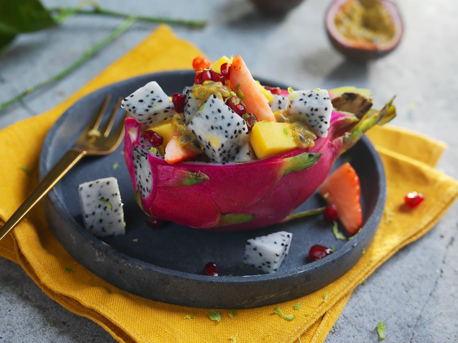 Fruktsalat med Pitahaya