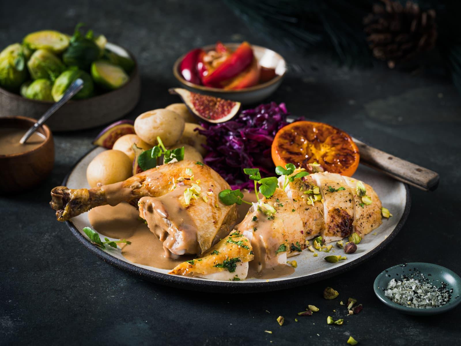 Saftig kylling med smak av jul