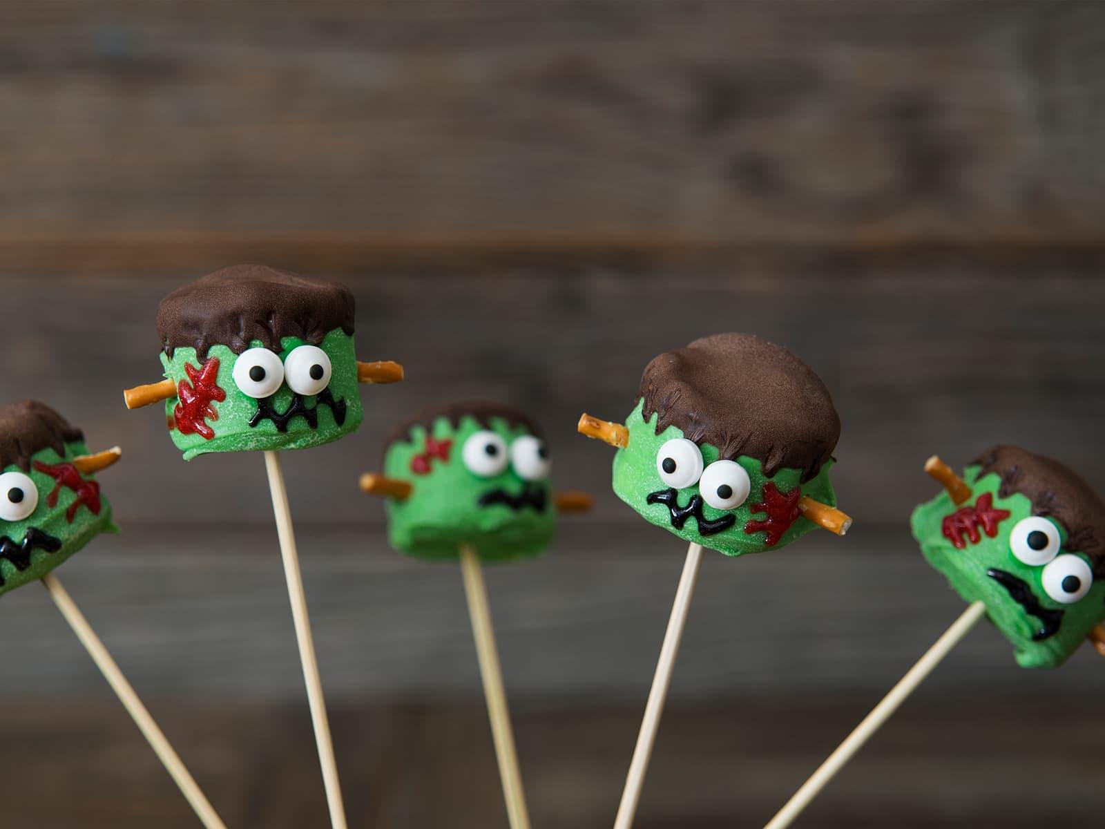 Frankenstein-marshmallows
