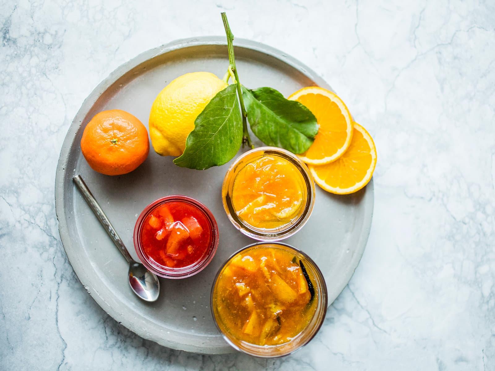 Appelsinmarmelade av søte appelsiner