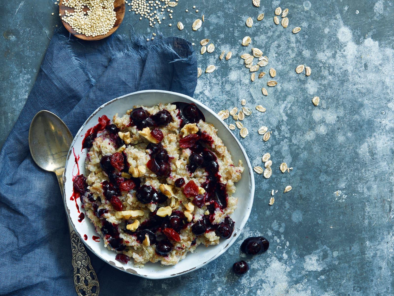 Grøt med rug og quinoa
