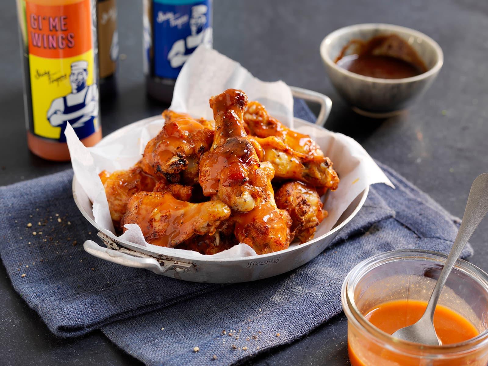 Buffalo wings med coleslaw