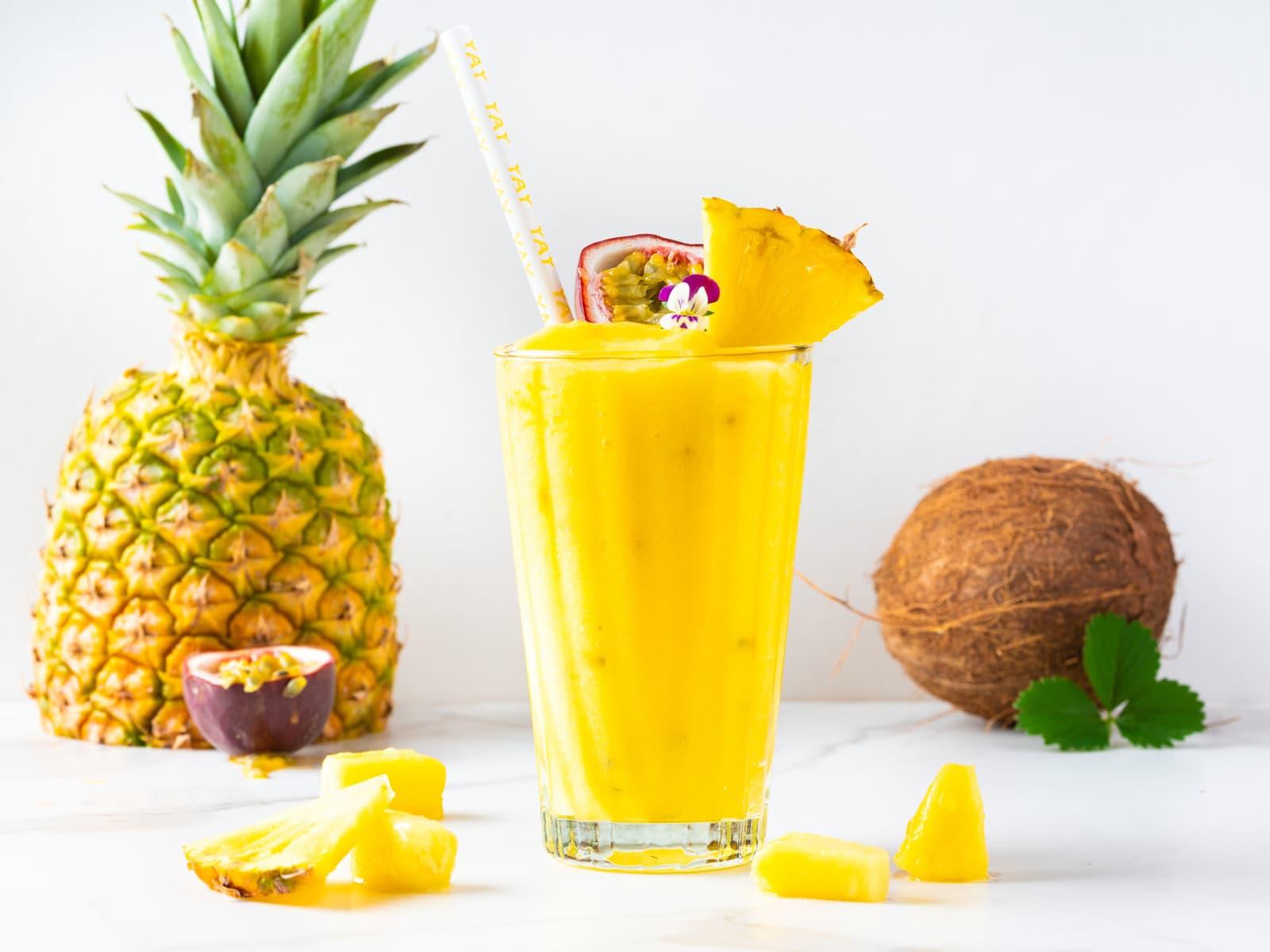 Smoothie med tropisk frukt