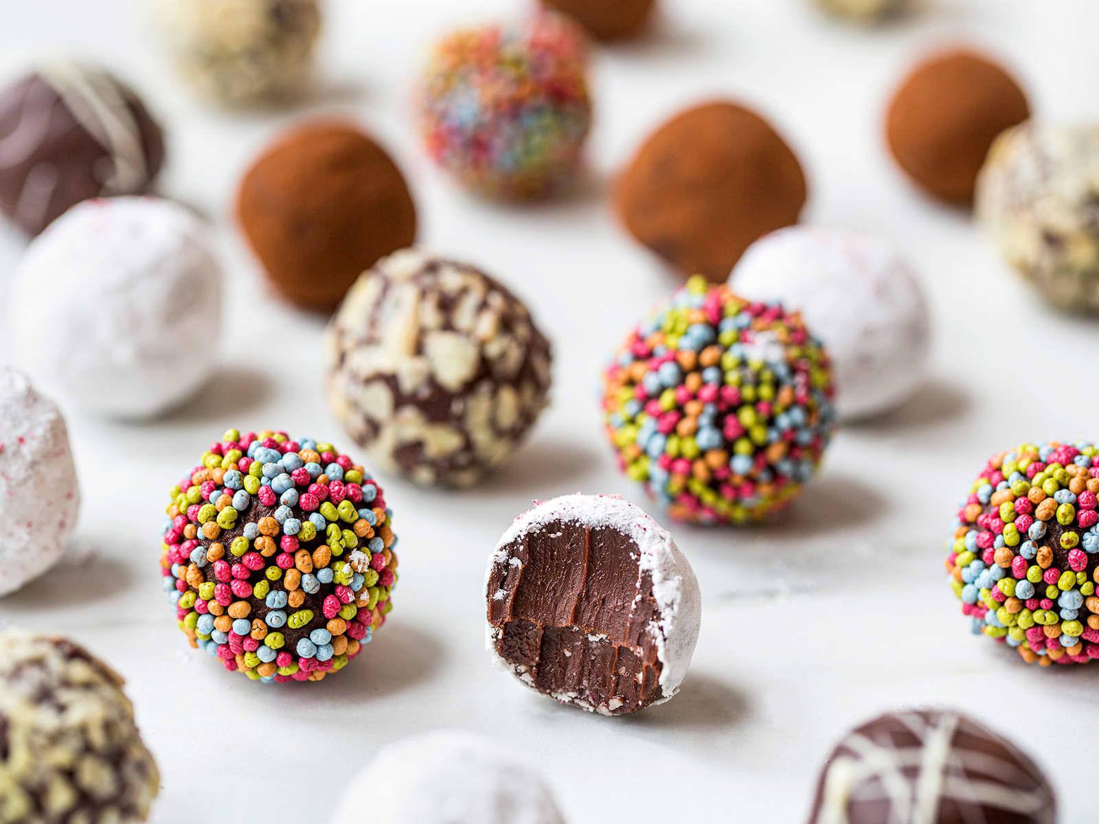 Hjemmelagde sjokoladetrøfler