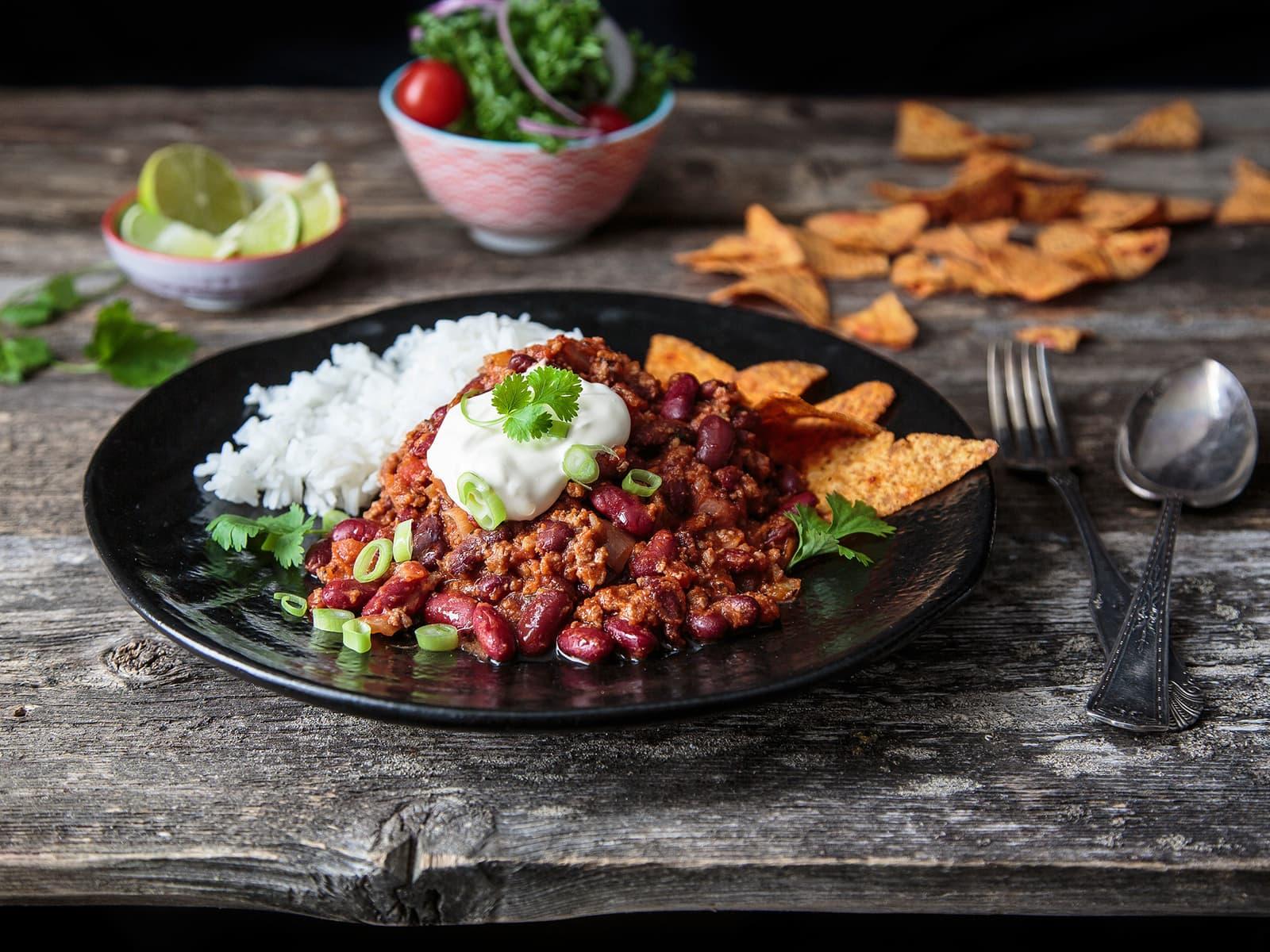 Hjemmelaget chili con carne