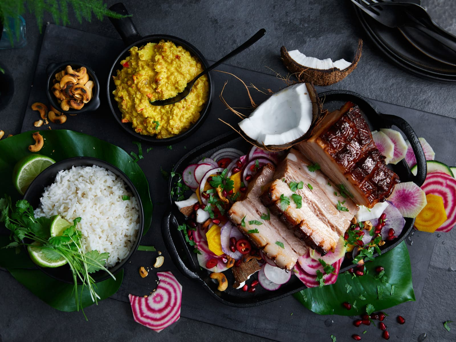 Asiatisk Smokey Ribs med nøtter
