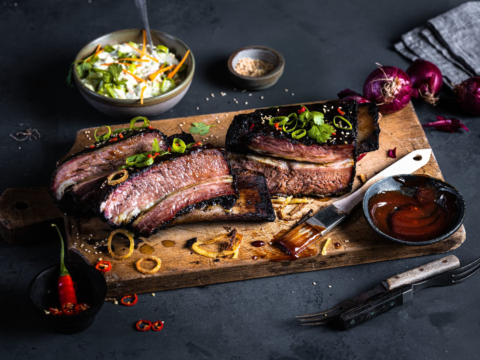 Koreansk BBQ short ribs