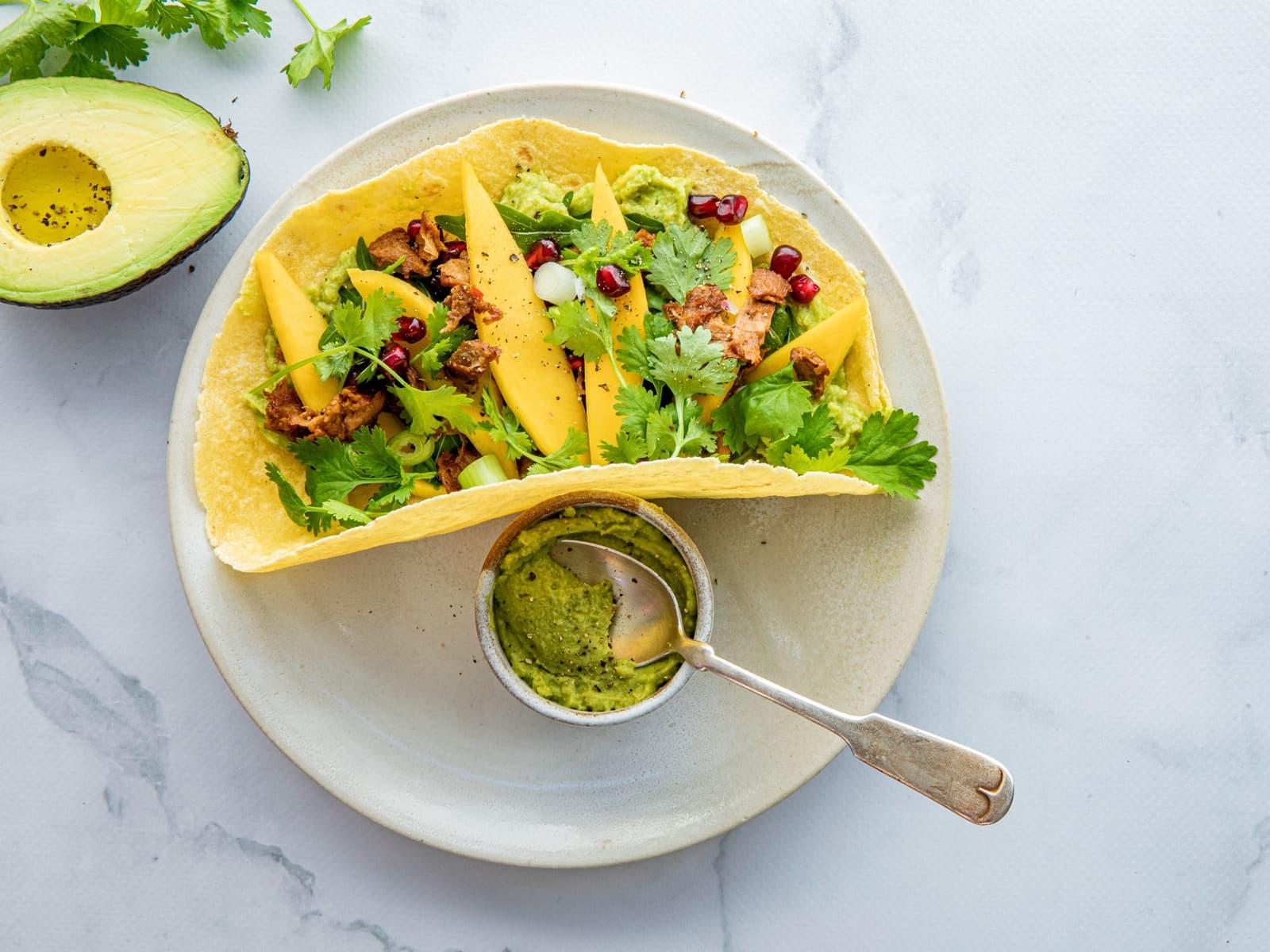Vegetar wrap med guacamole