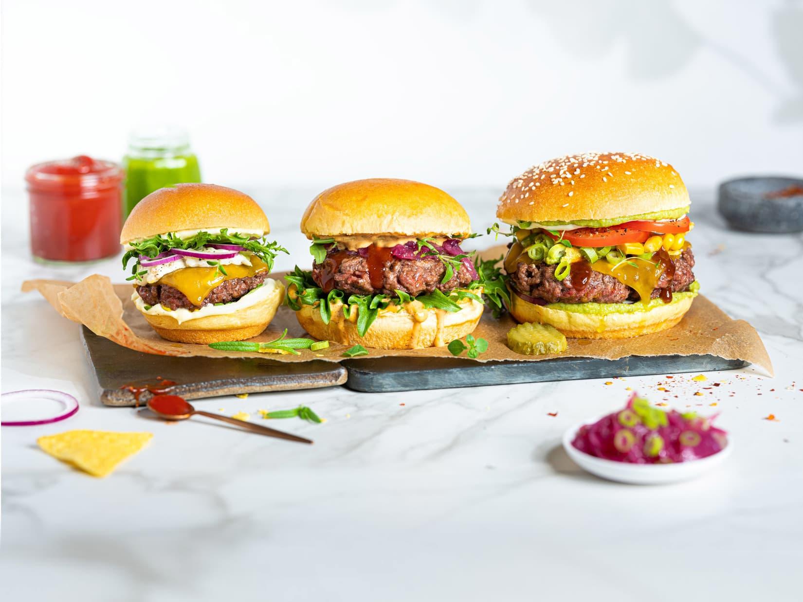 Saftig hamburger