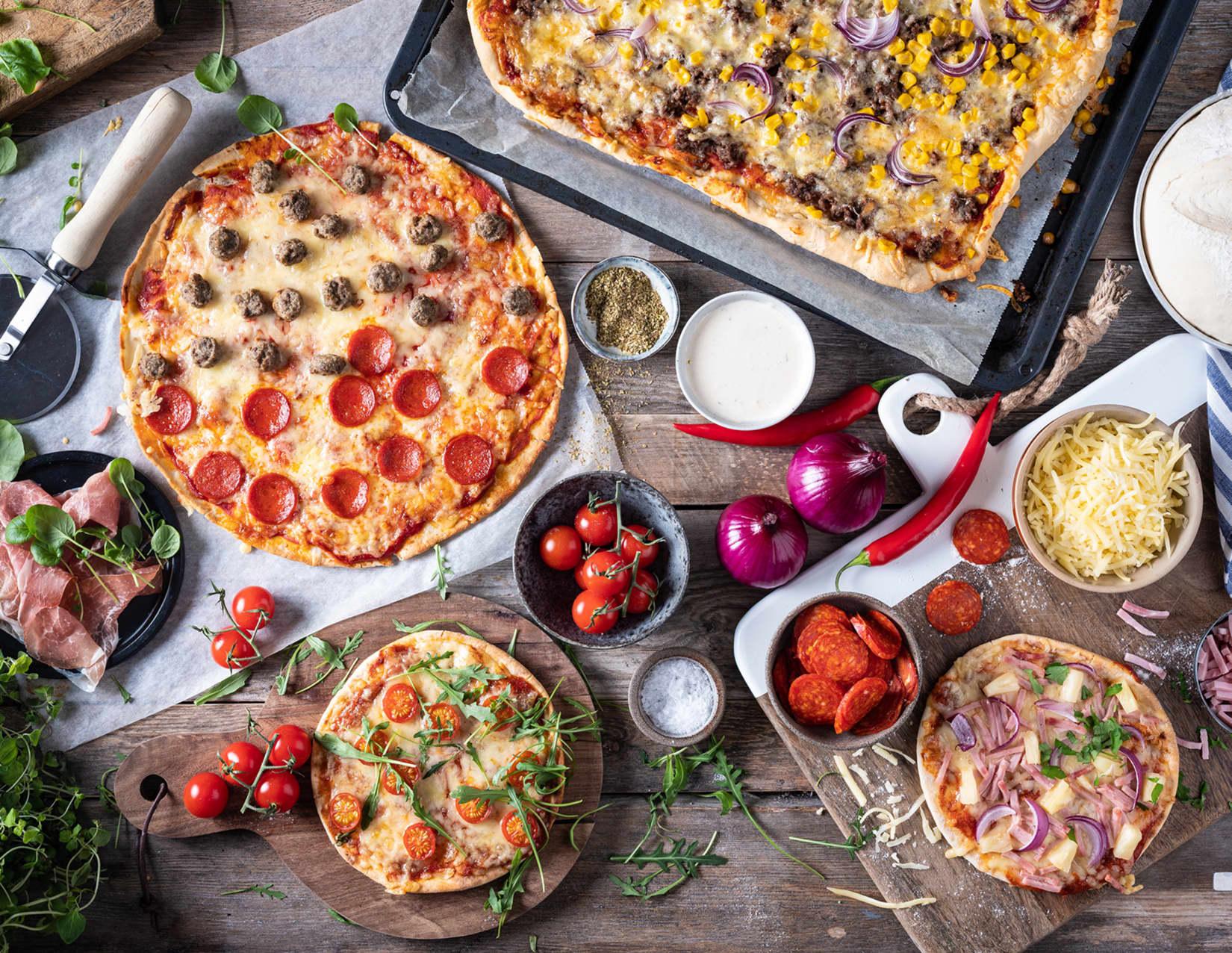 Fersk pizza til helgen