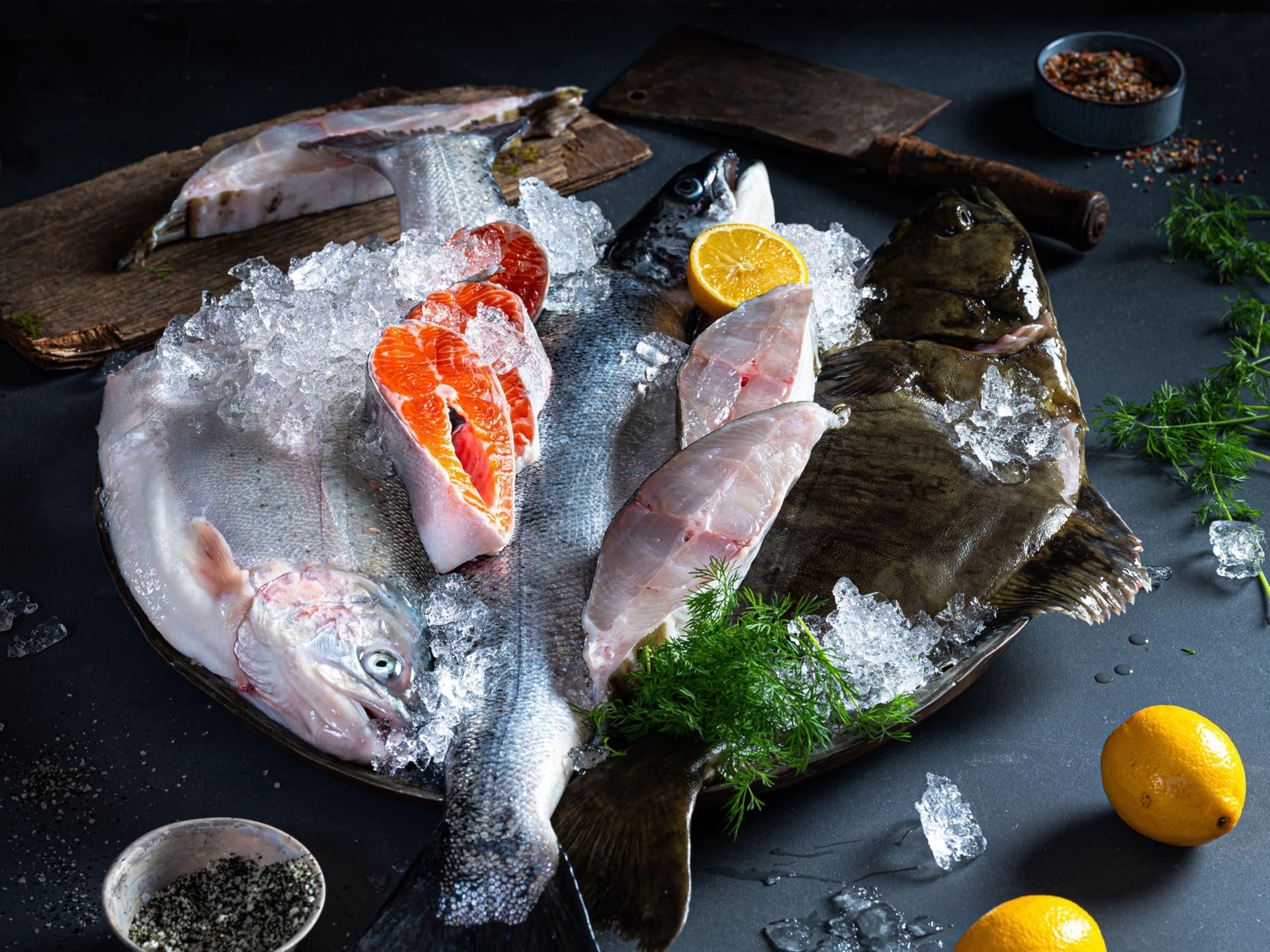 Fersk julefisk fra fiskedisken