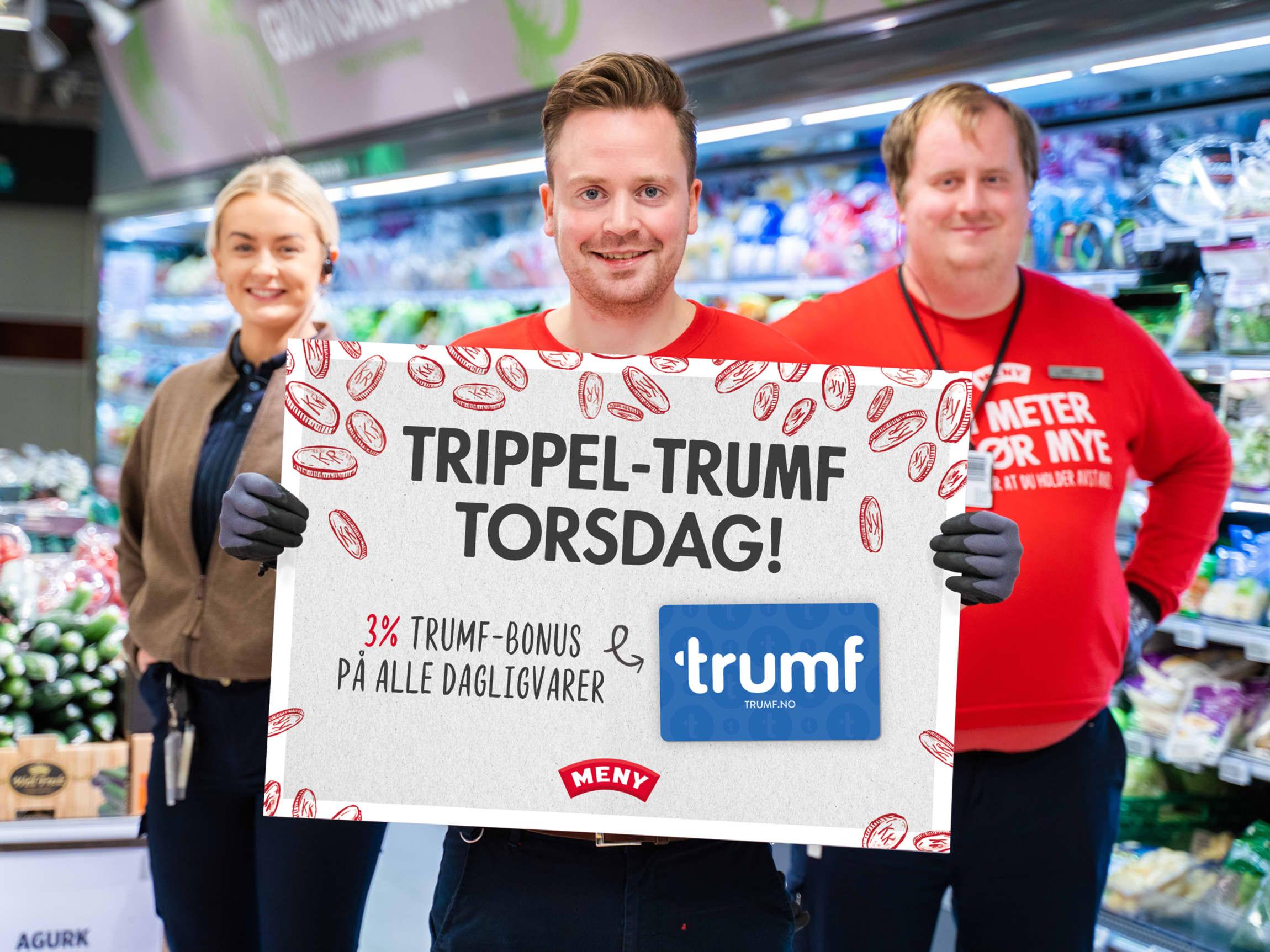 Trippel-Trumf torsdag hos MENY