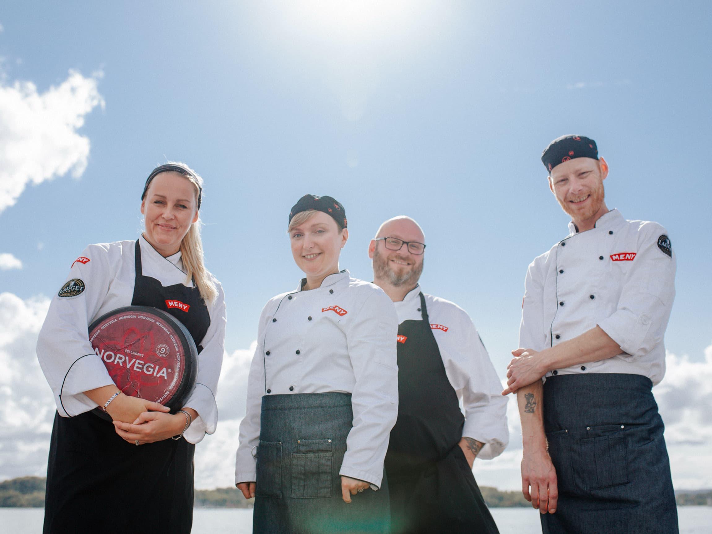 Fra venstre: Siri Hansen-Barry, Viktoria Grimen, Espen Schøning Lie, Jan Arne Moen