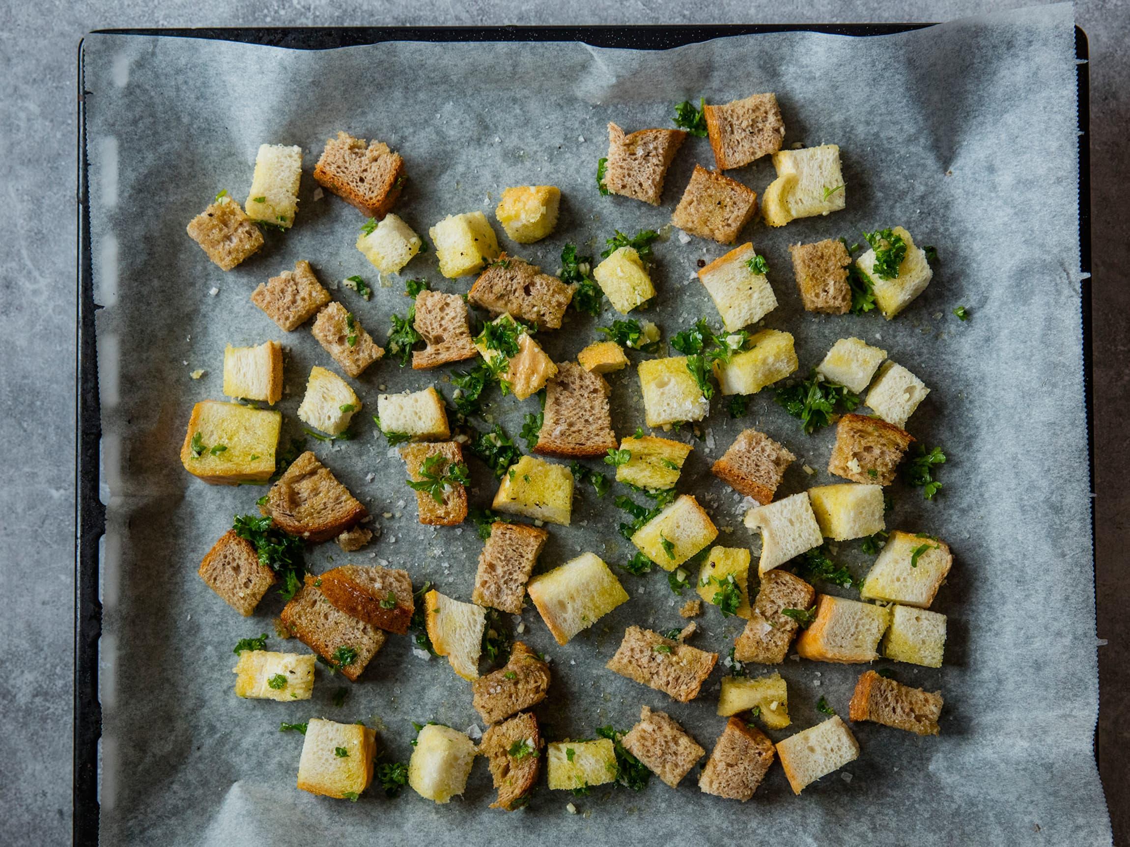 Brødkrutonger er perfekt i supper og salater.
