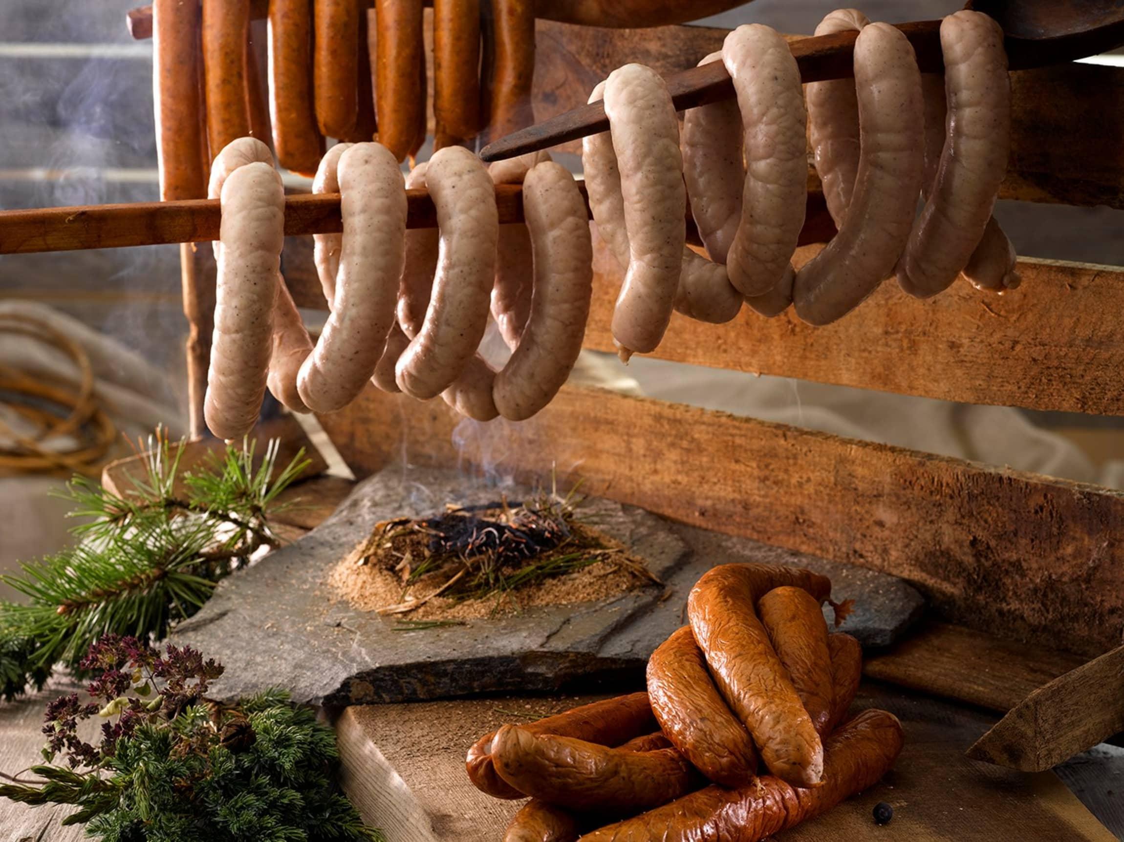 Naturlige råvarer og smaker fra naturen kjennetegner pølsene