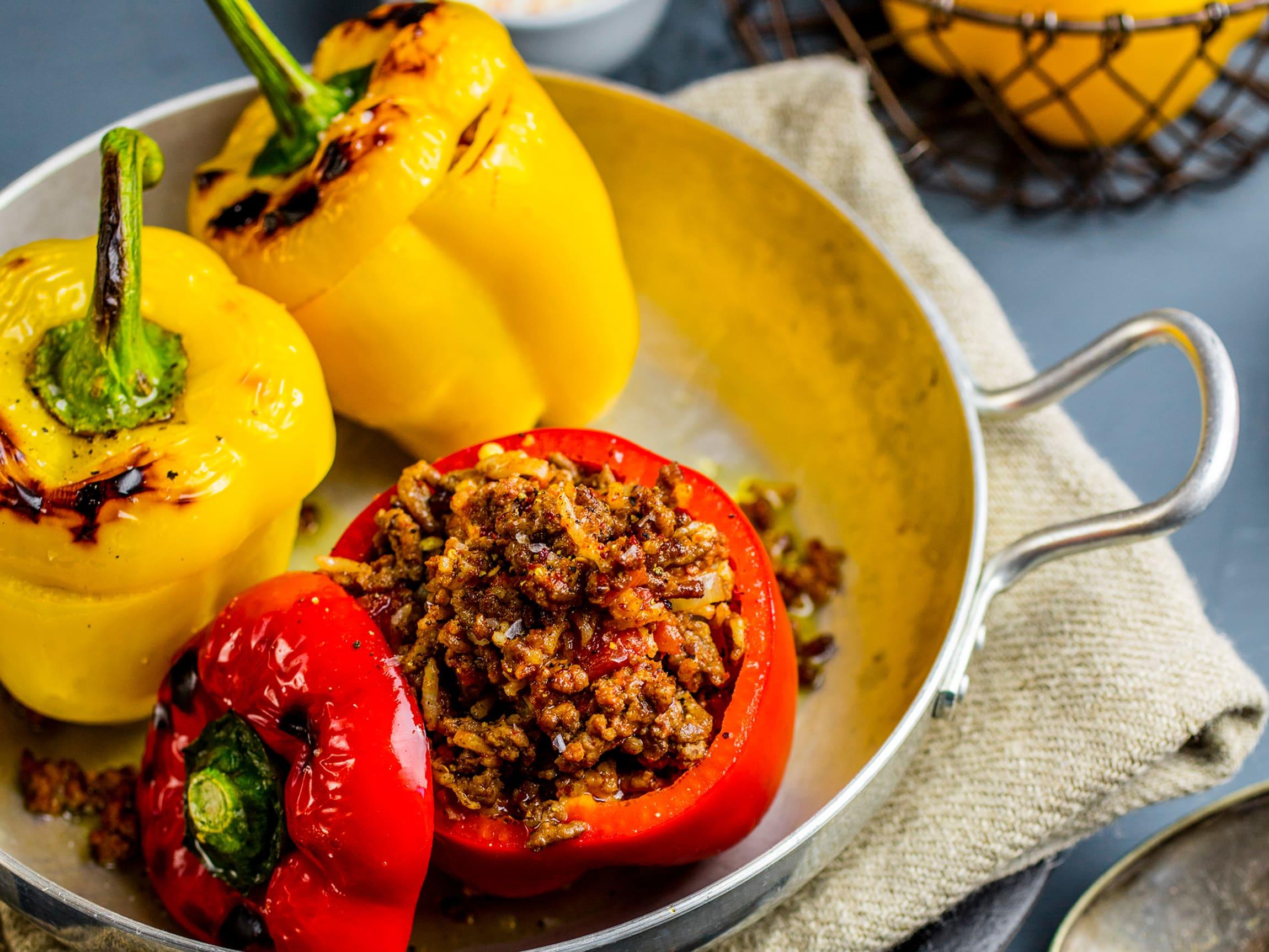 Fylt paprika passer til hverdager når du har lyst på noe godt.